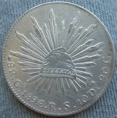 1896 GO RS Mexico 8 Reales