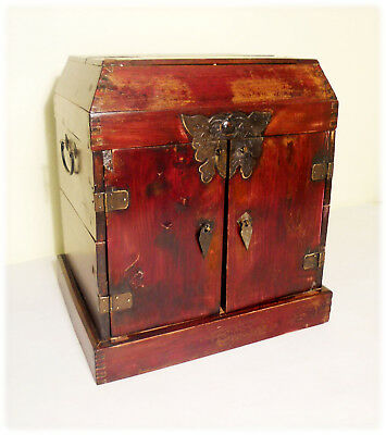 Antique Chinese Ming Official Stationery Chest (2894), Circa 1800-1849