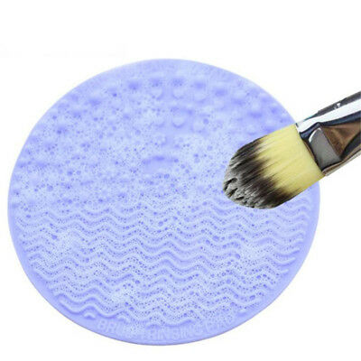 Silicone Makeup Brush Cleaner Cleaning Cosmetic Scrubber Mat Pad Hand Tool TL