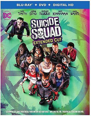 Suicide Squad (Blu-ray, DVD, Digital) Extended Cut BRAND NEW (No Slipcover)