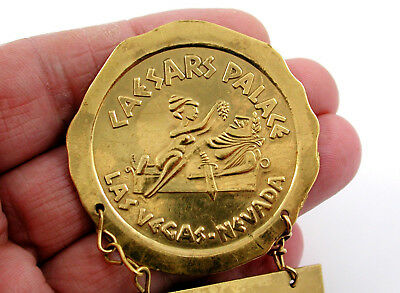 Vintage Caesars Palace Gold Employee Badge – Exceedingly Rare Casino Collectable