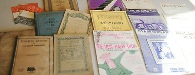 Lot 19 Vintage Antique Piano Sheet Music Books for Piano Violin Voice Various