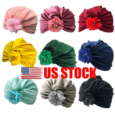 US Infant Baby Cute Turban Toddler Kids Boy Girl Velvet Hat Lovely Soft Hat