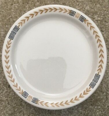 8 Vintage Shenango Restaurant Ware Diner China Esquire Greek Key Bread Plates