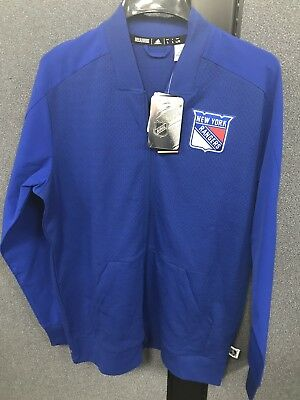 258ad5700c2 New York Rangers Climalite Bomber Jacket Adidas Men s Large NEW with TAGS!