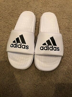 Adidas Voloomix Sandals Slides Mens Size 12 CP9447 Slip On White