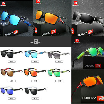 DUBERY Men Sport Polarized Driving Sunglasses Outdoor Fishing Riding Goggles Hot