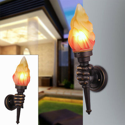 Modern Vintage Retro Torch Lamp Loft Iron Industrial Rustic Sconce Wall Light US