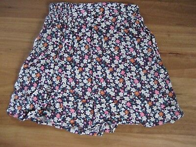Girl's Cute Blue Multi Coloured Viscose Short Skirt By Miss Understood Size 12