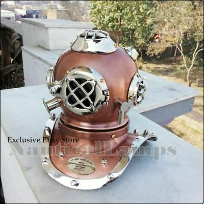 Beutiful copper antique diving divers helmet Silver brass mini dive helmet gift