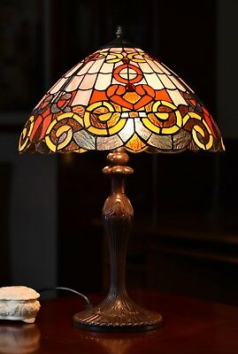 "Last one@Museum Quality 16"" Baroque Style Tiffany Large Table Lamp"