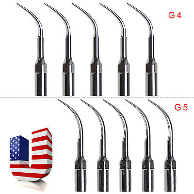 USA 10PC Dental Ultrasonic Scaler Tips For EMS WOODPECKER CE G4+G5 Scaling TIPPS