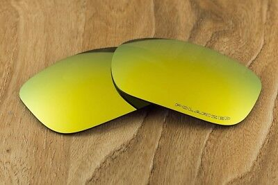 Bright 24k Gold Iridium Mirror Polarized Replacement Lenses for Oakley Two Face