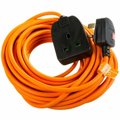 Masterplug 10m Outdoor Garden Mains Extension Lead Cable Plug Electrical Power