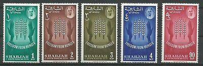 Sharjah 1963 27 - 31 ** Faim Blé Mains Freedom from Hunger Cheikh