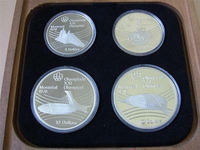 Canada. 1976 4 Pce Silver - Olympic Proof Set. (Series 7)  4-335oz ASW . Cased