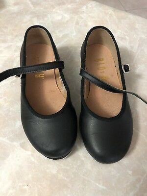 Girls Bloch Black Tap Shoes Size 9 1/2