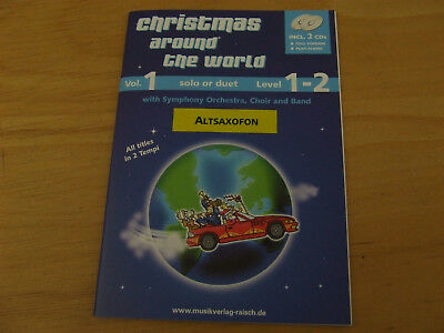 Christmas around the world - Altsaxophon - mit 2 CD`s Full Version/Play along