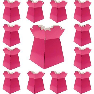 Hot Pink - Living Vases Florist Bouquet Box Flower Sweet Boxes -Choose Quantity