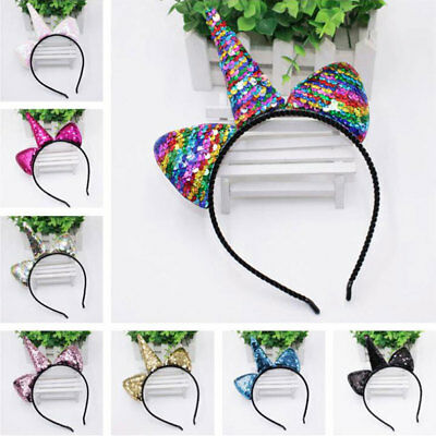unicorno cerchietto cartone animato cerchietto reversibile... head band