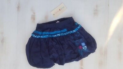 JACK & MILLY GIRLS Bubble SKIRT Size 2 Navy RRP $29.95
