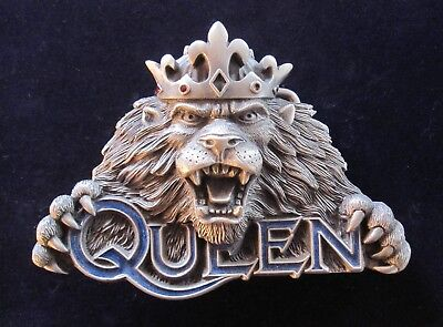 QUEEN : Vintage Officially Licensed 1994 Fan Club Lion Belt Buckle