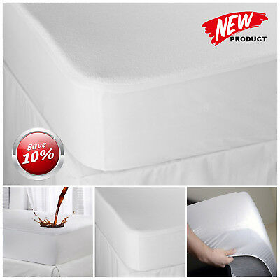 Luxury Waterproof 30 Cm Deep Terry Towel Mattress Protector Sheet Cover All Size
