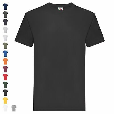 Fruit of the Loom Super Premium T Herren T-Shirt Schwere Qualität Basic Shirt