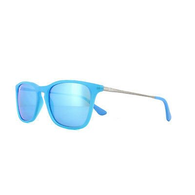 5836fb40b4 Ray-Ban Junior Sunglasses Chris 9061 701155 Azure Transparent Rubber Blue  Mirror