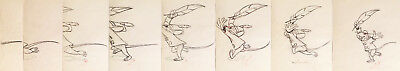1941 Rare Disney Dumbo Timothy Mouse Production Animation Drawing Sequence Cel