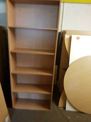 Lovey Large Beech effect office bookcases, really good quality 2M high