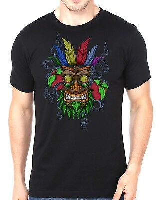 Crash Bandicoot Aku Aku Smoke Mask Adults Unisex 90's Retro T-Shirt