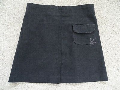 Girl's Embroidered Grey School Skirt from Marks and Spencers Age 5 Years