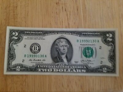 $2 Bill $2.00 NOTE CRISP NEW TWO $2 DOLLAR BILL UNCIRCULATED MAKES A GREAT GIFT