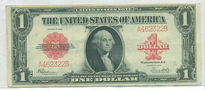 1923 $1 Large Size Red Seal U.s. Note