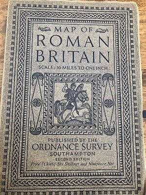 1931 Map of Roman Britain Ordnance Survey in Cloth