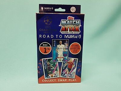 Topps Match Attax Champions League Road to Madrid 19  Deck Box 1 /4 Update Set