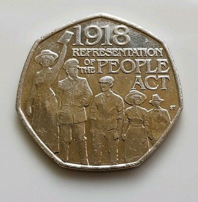 2018 The People Act 1918 50p coins Fifty Pence Coin