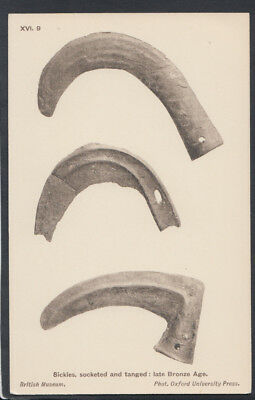 British Museum Postcard - Sickles, Socketed & Tanged, Late Bronze Age  RS12306