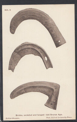 British Museum Postcard - Sickles, Socketed and Tanged, Late Bronze Age  RS12317