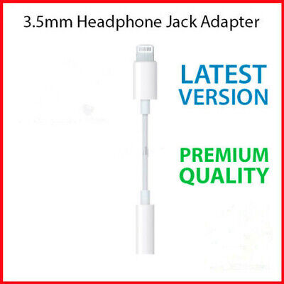 For iPhone7 8 Plus X XS 3.5mm Earphone Jack Audio Headphone Adapter Cable New