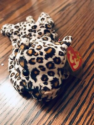 1996 Ty Beanie Baby Retired Freckles the Leopard Mint Condition Style 4066 6257d65e380f