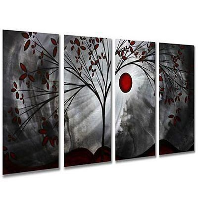 ENOPT25 100% hand-painted modern abstract tree moon oil painting art on canvas