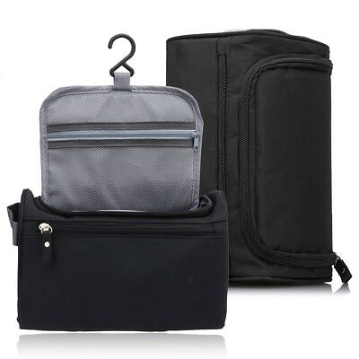 d32a22e2749d Men s Hanging Travel Toiletry Bag Overnight Wash Gym Shaving Bag for Men -  Black