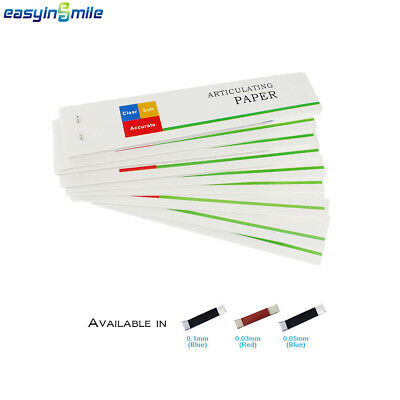Easyinsmile 200 Sheets Dental Articulating Paper Soft Thin Accurate Lab Strips