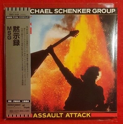 MICHAEL SCHENKER GROUP: Assault Attack_CD in Mini LP Sleeve_VG+ Condition_RARE!!