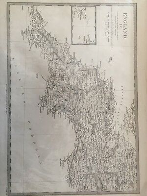 Antique Map Of South West England