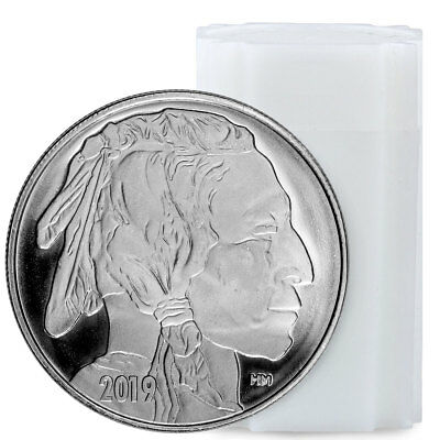 Roll of 20 2019 Highland Mint Buffalo Nickel Design 1oz Silver Round BU SKU56456