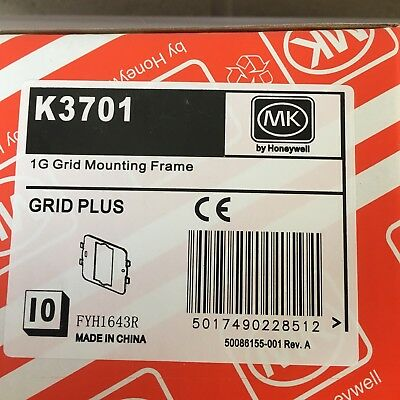 40 X Mk K3701 1G Gird Mounting Frame Grid Plus Plate New For Switches