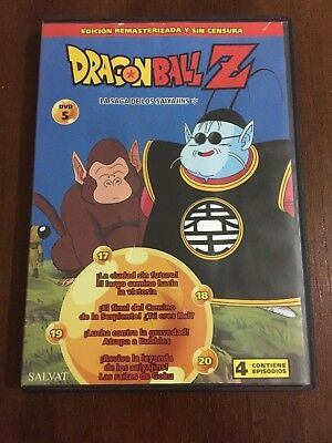 Dragon Ball Z Dvd 5 - Caps 17 A 20 - 100 Min - Ed Remasterizada Sin Censura